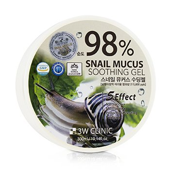 3W Clinic 98% Snail Mucus Soothing Gel