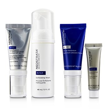 Neostrata Skin Active Derm Actif Repair - Comprehensive Antiaging System: Exfoliating Wash + Cellular Restoration + Matrix Support SPF 30 + Intensive Eye Therapy
