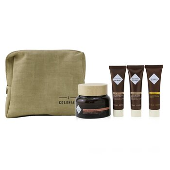 I Coloniali The Potion Of Radiance Set With Pouch: 1x Hydra Brightening - Long Lasting Moisture Cream SPF 15 - 50ml + 1x Hydra Brightening - Perfecting Light Emulsion SPF 15 - 10ml + 1x Hydra Brightening - Pure Radiance Rich Cleansing Milk - 10ml +